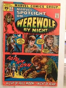 MARVEL SPOTLIGHT #2 (1972) 1st Werewolf By Night Appearance & Origin, Neal Adams