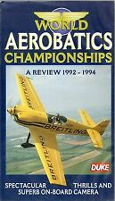 WORLD AEROBATICS CHAMPIONSHIPS REVIEW 1992 - 1994 ON-BOARD CAMERA 1995 VHS VIDEO