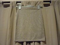 LADIES STRIPED STRETCHY MINI SKIRT FROM MISGUIDED - SIZE 8