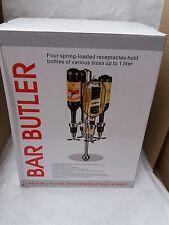 Rotating Bar Butler - 4 Optic Chromed Bottle Holder - Your Home Cocktail Bar!