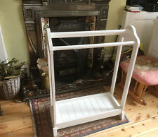 White Wooden John Lewis Clothes Rack Horse Rail, Sturdy and in Good Condition