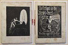 Scheffauer The Infant in the News-sheet 1921 mit 2 Holzschnitten Englisch sf