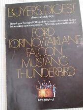 1969 Ford Mustang Torino Fairlane Thunderbird Wagons Buyers Guide Brochure