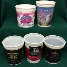 5 Vintage Las Vegas Casino Plastic Slot Coin Cups / Buckets