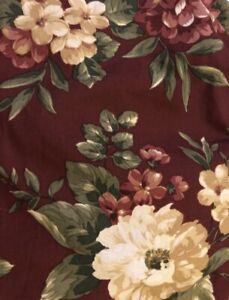 Waverly Garden Room Floral Manor Cal King Bed Skirt Rust Red Dust Ruffle Flowers