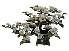 Chinese White Jade Stone Peony Flowers