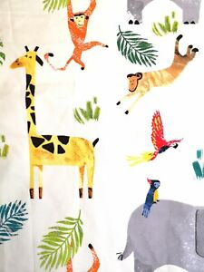 NEXT Child's Nursery Curtains animals Jungle boy girl 66 x 54 ins VGC