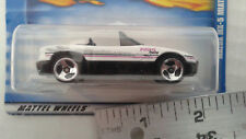 Hot Wheels MAZDA MIATA MX-5 - 1999 #1084 - White, DD3 3-Spoke Wheels METAL Base