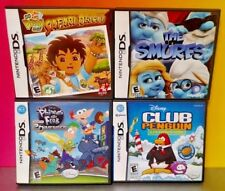 Disney Game Lot Club Penguin Smurfs Diego Phineas  - Nintendo DS DS Lite 3DS 2DS