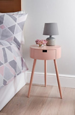 Moden 1 Drawer Bedside Table White, Grey or Pink