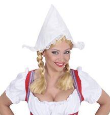 Dutch Holland Girl Oktoberfest Bavarian Beer Festival White Fancy Dress Hat