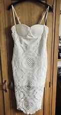 Stunning White Bodycon Lace Dress. Size 8/ Small