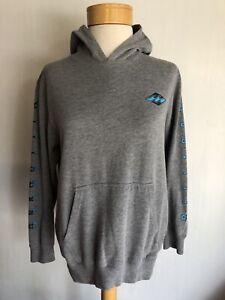 BILLABONG Official Women's Grey Pullover Waves Logo Hoodie Sweatshirt Sz Medium