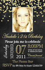 Personalised 16th 21st 30th 40th 50th Year of Adult Birthday Invitations invites