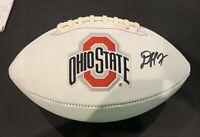 Denzel Ward Autograph Football CAS COA Buckeyes Browns