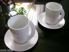 Rosenthal Cupola weiss 2 Kaffeetassen & 2 Untertassen ***NEUWARE***