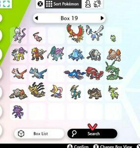 Ultra Shiny 6IV Low Level 15-20 Legendary Pokemon FROM PoGo FOR Sword/Shield