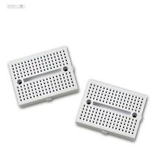 2x Breadboard Experimentation board WHITE Laboratory board Plug-in card Platine