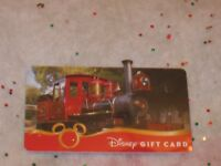Disney Collectible Gift Card Die Cut Train NO VALUE