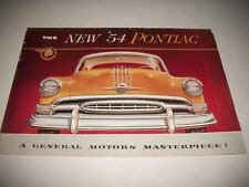 1954 PONTIAC SALES BROCHURE STAR CHIEF CHIEFTAIN