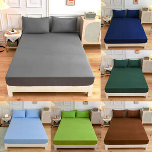 Extra Deep 30cm Fitted Sheet Bed Sheets Dust Cover Poly Cotton Double King Size