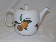 Royal Worcester Evesham Teapot Made In England Apples Peaches Black Berries