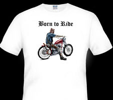 NED KELLY  OUTLAW    HARLEY   BORN TO RIDE  TSHIRT  MEN'S LADIES KID'S SIZES