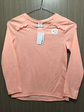BNWT Girls Size 9 Target Pretty Peach Long Sleeve Cotton Blend Layering Top