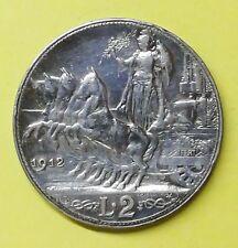 2 lire 1912 V.E.III QUADRIGA VELOCE