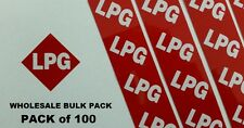 LPG Stickers x100 BULK PACK  --Reflective Red LPG Number Plate Stickers--