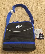 New listing Nwt! Lunch Tote Bag ~ Fila Refuel Ii Black/Blue Extra Storage Insulated Lining