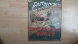 fast wheels retro wood picture -  - home bar pub wall art
