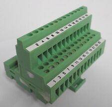 Phoenix ET2 Terminal Block 20 Position PCB Mount Green