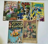 LOT of 5 Marvel Comics 1985-1992 iron man groo punisher transformers conan
