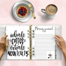 MORNING JOURNAL Printable A5 Planner Refill Agenda Digital Download Insert Kikki