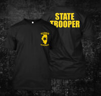 Illinois Police State Trooper State Police USA - Custom Men's T-Shirt Tee