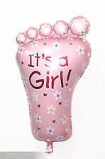 1pcs pink Boys Girls Foot Baby Newborn  Christening Birthday Party Foil Balloon