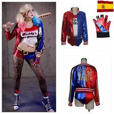 Para Mujer Harley Quinn suicidio escuadrón Cosplay Traje Chaqueta Nuevo