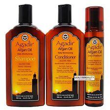 Agadir Argan Oil Daily Moisturizing Duo 12.4 Fl Oz + Spray Treatment 5.1 Fl Oz