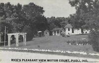 Postcard Rice Pleasant View Motor Court Paoli Indiana