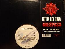"GANG STARR - GOTTA GET OVER / FLIP THE SCRIPT (12"")  1992!!  DJ PREMIER + GURU!!"
