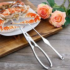 2pcs Seafood Fork Stainless Steel Nut Lobster Crab Cracker Shellfish Tool Set