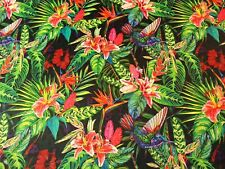 2nd CLASS SALE! 70% OFF Printed velvet Upholstery Fabric 400g Humming Jungle