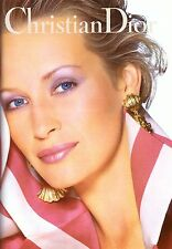 1994 Christian Dior Cosmetics Makeup Estelle Lefebure Vintage Print Ad 1990s