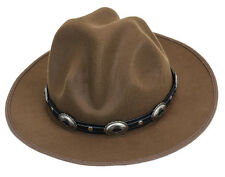 Mountie Hat Concho Leather Band Wool Top Hat Premium Quality Party on!