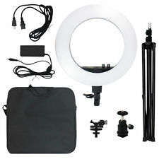 "50W 240PCS LED 18""Diva Ring Light 5500K Dimmable+Universal Adapter w/US Plug"