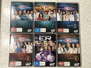 ER Complete Season 1 2 3 4 5 6 DVD Series REGION 4 In VGC