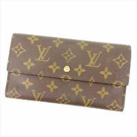Louis Vuitton Wallet Purse Trifold Monogram Woman Authentic Used Y2099