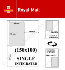 Royal Mail 6x4 A4 Integrated Label Invoice Paper Sticky Address Sheets Single S