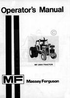 Massey Ferguson MF 2800 Tractor Operator Manual